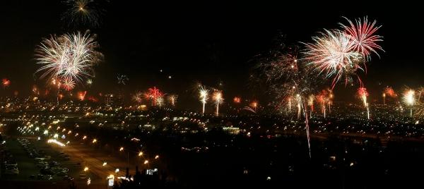 Gamlárskvöld, flugeldar, New Year's Eve