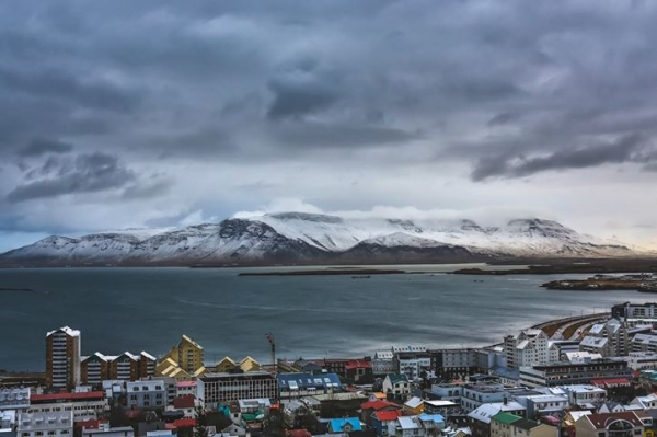 Reykjavík skyline, Esjan