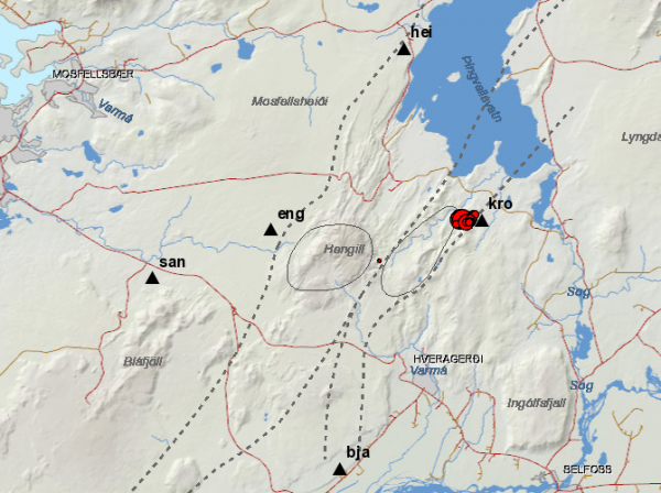 Þingvellir earthquakes 4.1.16
