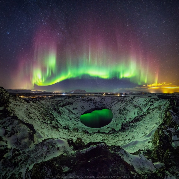 aurora, Kerið, NASA Astronomy Picture of the Day