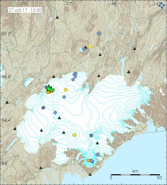 Quakes in Bárðarbunga 27.10.17