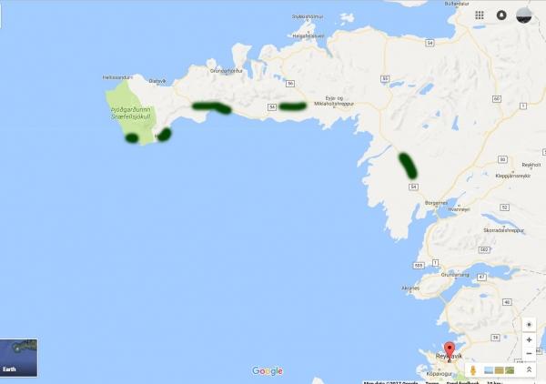 Drone video W. Iceland, Snæfellsnes