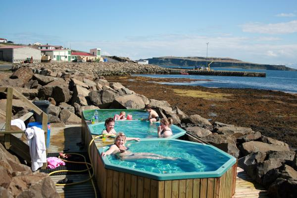 Drangsnes, hot tub, heitir pottar