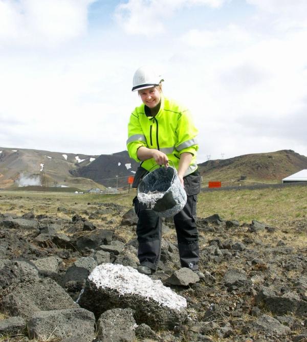 Hellisheiðarvirkjun, Magnea Magnúsdóttir, vegetation reclamation