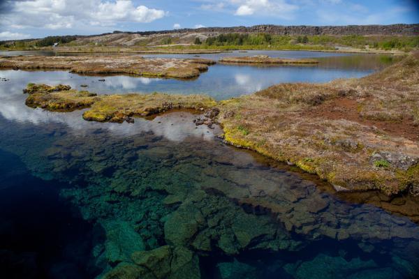 Silfra, vatn, lake, þingvellir