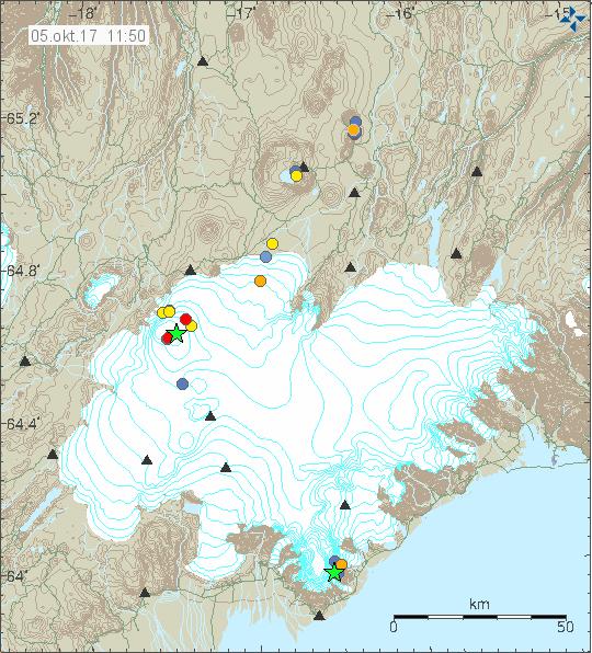 Vatnajökull quakes, 5.10.17