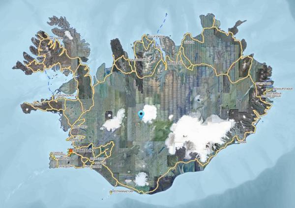 Blágnípujökull location