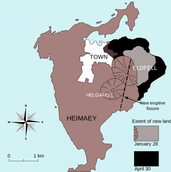 Eldfell, Heimaey eruption