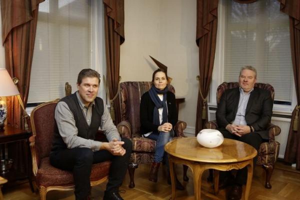 Katrín Jakobsdóttir, Bjarni Benediktsson, Sigurður Ingi Jóhannesson, coalition negotiations 2017