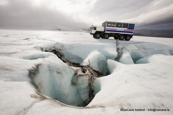 Ice Cave, Ice tunnel, Langjökull, göng