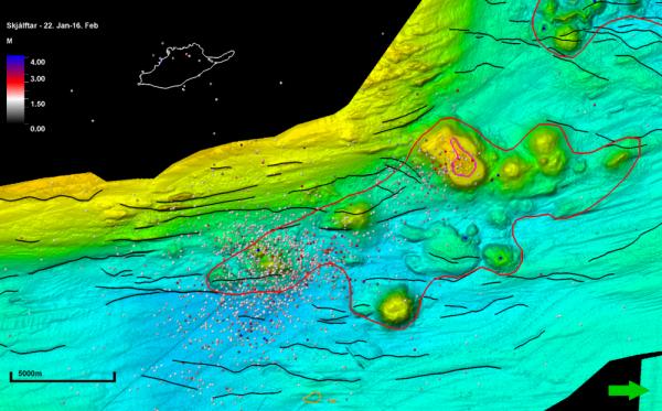 Nafir volcanic system, Grímsey earthquakes february 2018