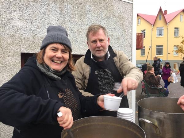 Skólavörðustígurinn meat soup day