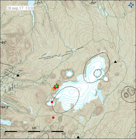 Langjökull tremors 28.9.17