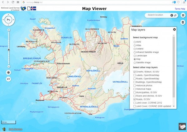 This is a photo of Iceland Map Printable with regard to detailed