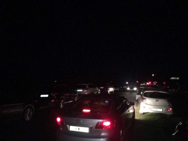 Traffic jam at Grótta