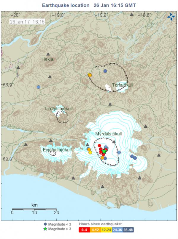 Mýrdalsjökull 26.1.17