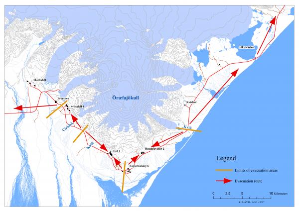 Emergency Evacuation Plan for Öræfajökull