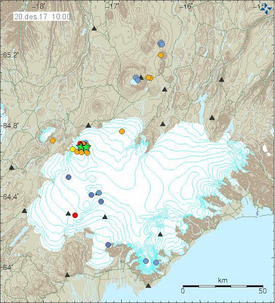 Quakes in Bárðarbunga 20.12.17