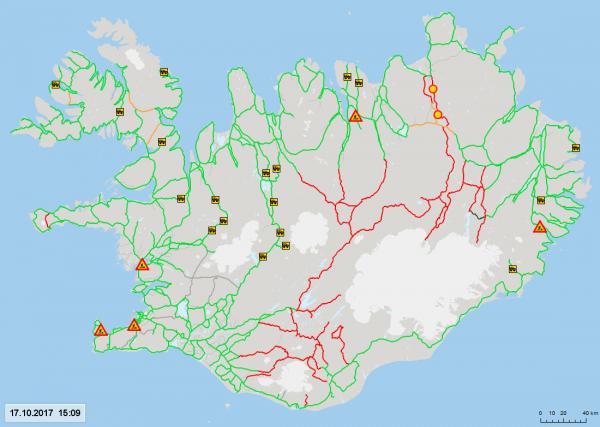 Roads open 17.10.17
