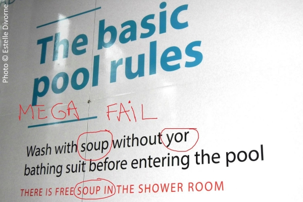English fail, Laugardalslaug pool