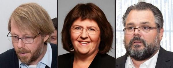 Steinþór Gunnarsson, Elín Sigfúsdóttir, Sigurjón Þ. Árnason, bankers