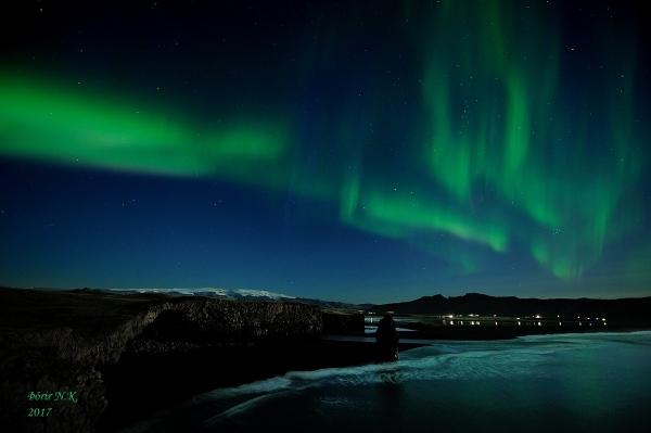 Aurora over Vík 8.9.17