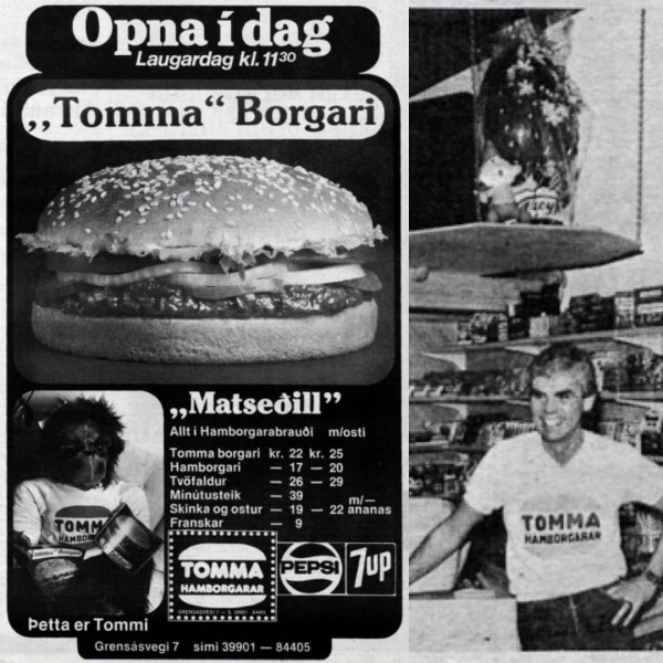 Tommi's Burger Joint, Tommaborgarar ad