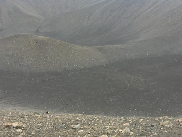 Hverfjall crater graffiti