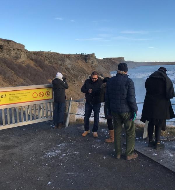 Walking path at Gullfoss closed