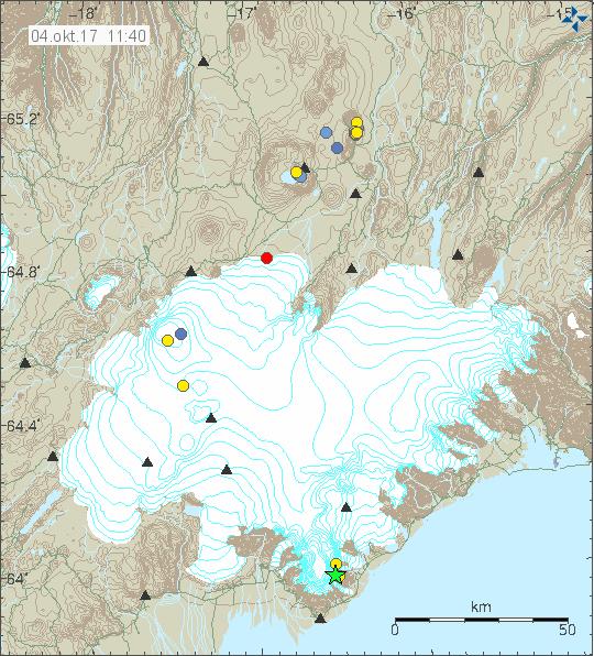 Öræfajökull earthquake 3.10.17