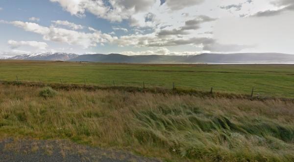 Dysnes, view of Eyjafjörður
