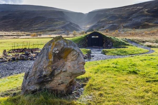 Bæjargil above Húsafell farm