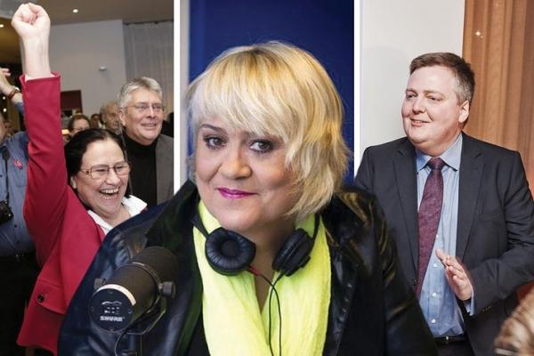 Inga Sæland, Arnþrúður Karlsdóttir, Sigmundur Davíð