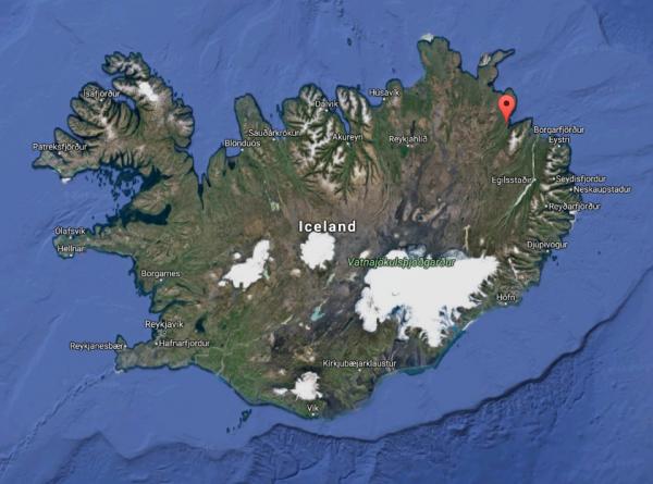 location of Vopnafjörður