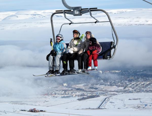 Hlíðarfjall, skíði, ski resort, Akureyri, winter, vetur