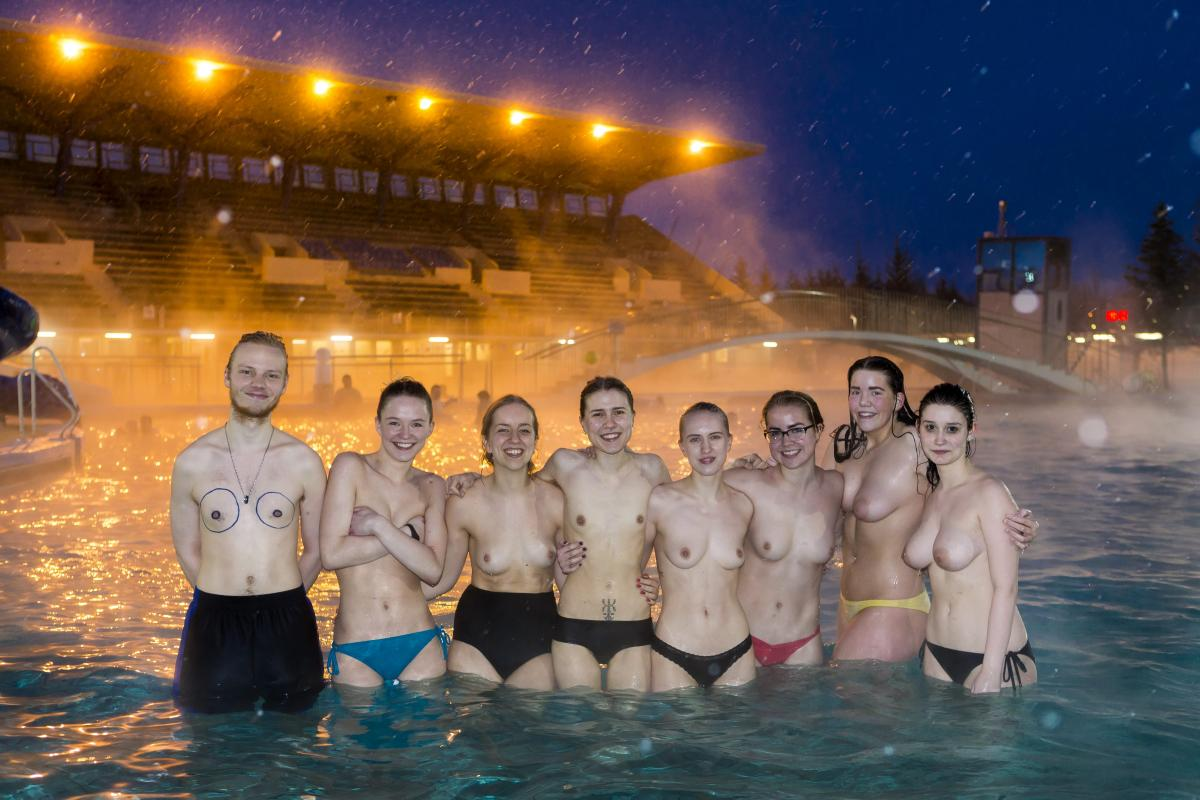 Free The Campaign Reached Its Peak Yesterday Evening When Women Went Swimming Icelandmag