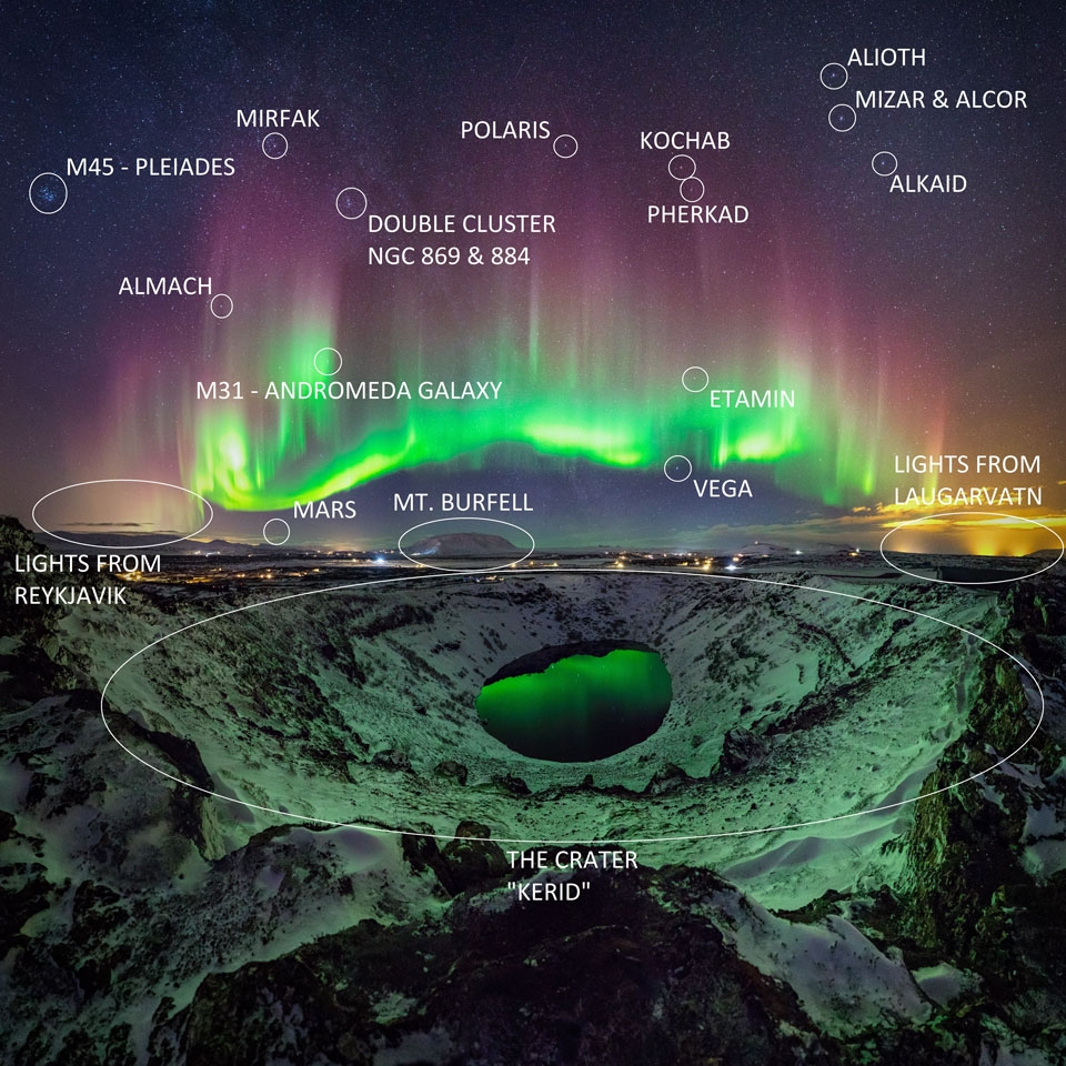 Kerid And The Aurora An Amazing Astronomy Photo Taken By Local Photographer Of Over Volcanic Crater In South Iceland NASA Sigurdur