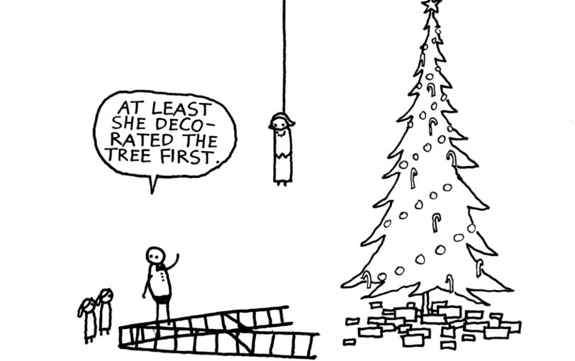 Dark Humour Of Cartoonist Hugleikur Perfect Distraction For A