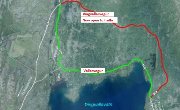 Thingvellir National Park Map on