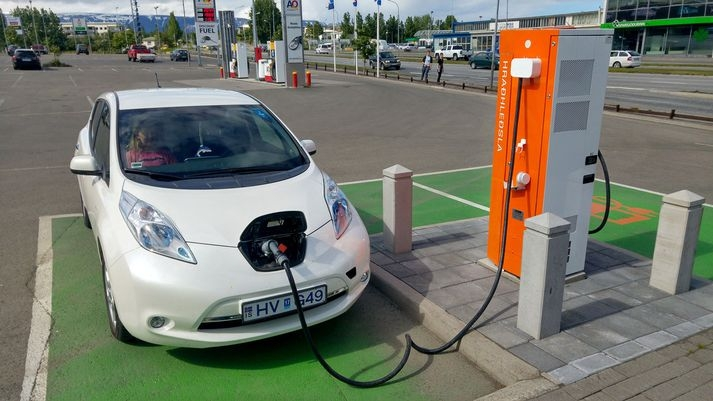 An On Charging Station After February 1 2018 Your Electric Car At The Stations Is No Longer Free Photo Óskar