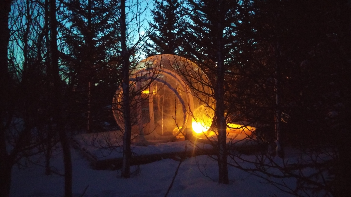 The Dome Accommodates Two People And Features Comfortable Mattresses And  Warm, Woollen Blankets. Photo/Róbert Sveinn