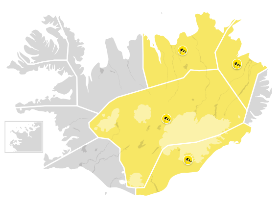 Severe weather alert: No travel weather in SE, E, NE Iceland or