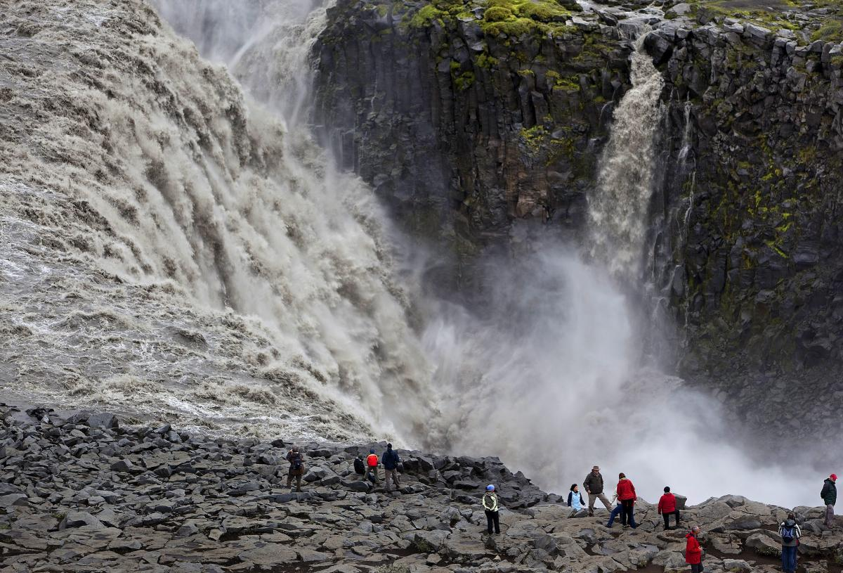 Relentless rain by Dettifoss waterfall has created a potential death-trap   Icelandmag