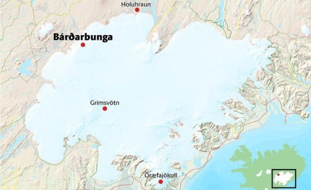 Sharp earthquake swarm in Brarbunga 40 magnitude quake yesterday